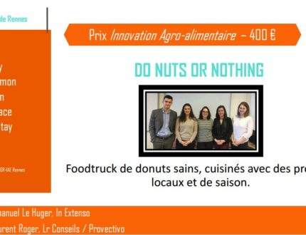 Do Nuts or Nothing : lauréat du prix ialys de l'innovation agro-alimentaire 2017