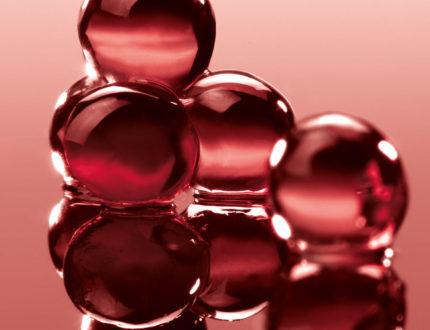Perles d'algues cranberry