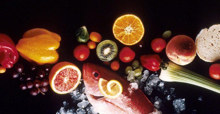 poissons, fruits et légumes