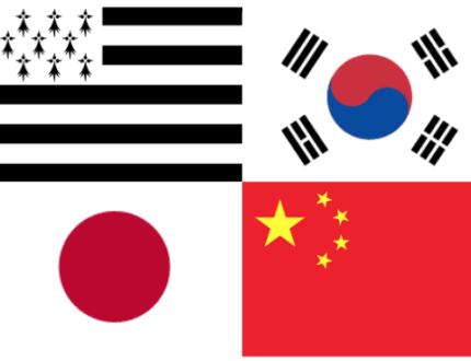 Drapeaux_breton_chinois_coréen_japonais